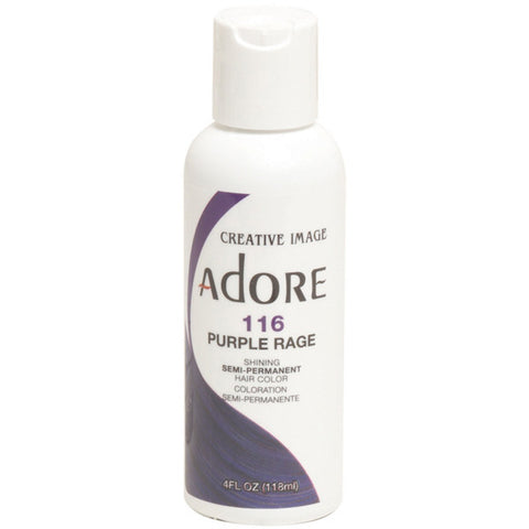 Adore Semi Perm 116 PURPLE RAGE 4 Oz - Hair Color - Express Beauty USA