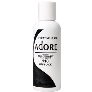 Adore Semi Perm 118 OFF BLACK 4 Oz - Hair Color - Express Beauty USA