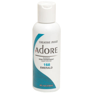 Adore Semi Perm 168 EMERALD 4 Oz - Hair Color - Express Beauty USA