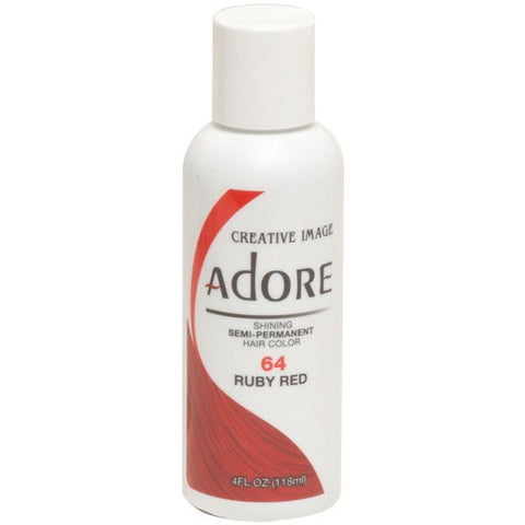 Adore Semi Perm 64 RUBY RED 4 Oz - Hair Color - Express Beauty USA