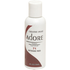 Adore Semi Perm 71 INTENSE RED 4 Oz - Hair Color - Express Beauty USA