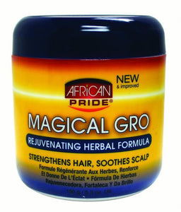 African Pride MAGIC GRO REJUVENATING HERBAL FORMULA Strengthens Hair SOOTHES SCALP 5.3 OZ - All Products - Express Beauty USA