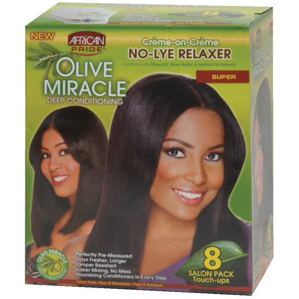 African Pride Olive Miracle NO LYE RELAXER TOUCH UP LIT SUPER - Hair Care Products - Express Beauty USA
