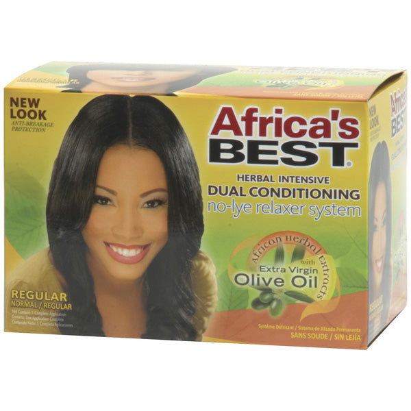 Africa's Best Herbal Intensive Dual Conditioning Relaxer Kit Regular - Hair Care Products - Express Beauty USA