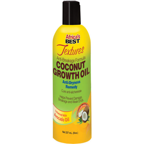 Africa's Best Textures Anti Breakage Coconut Growth Oil 8 Oz - Hair Care Products - Express Beauty USA