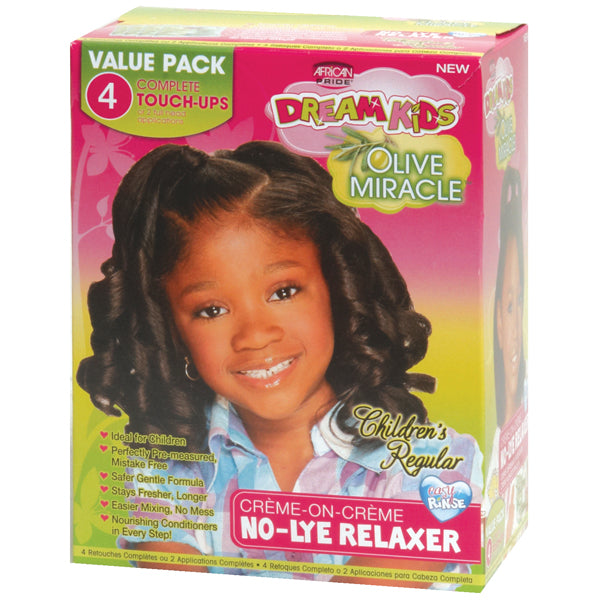 African Pride Dream Kids Olive Miracle Relaxer Touch Up Kit ( Regular ) - Hair Care Products - Express Beauty USA