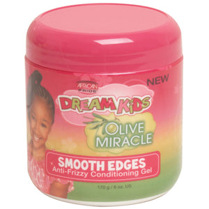 African Pride Dream Kids Olive Miracle Smooth Edges Anti-Frizzy Conditioning Gel 6 Oz - Kid's Care - Express Beauty USA