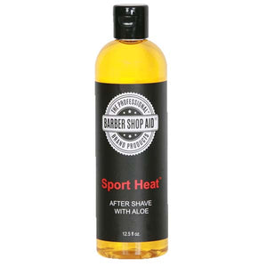 Barber Shop Aid SPORT HEAT AFTER SHAVE With ALOE 12.5 Oz - All Products - Express Beauty USA