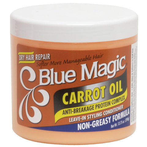 Blue Magic CARROT OIL LEAVE-IN CONDITIONER NON-GREASY 13.75 Oz - Hair Care Products - Express Beauty USA