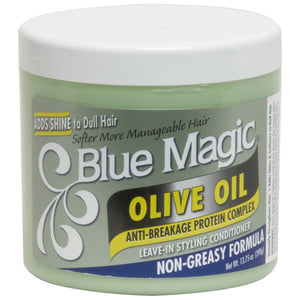 Blue Magic OLIVE OIL LEAVE-IN CONDITIONER ADD SHINE 13.75 Oz - Hair Care Products - Express Beauty USA