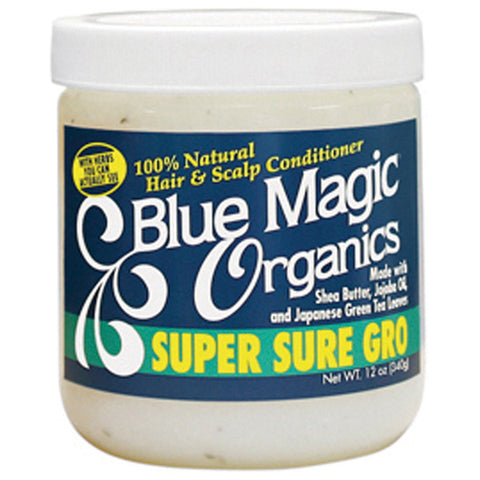 Blue Magic HAIR & SCALP ORGANICS SUPER SURE GRO conditioner 12oz - All Products - Express Beauty USA