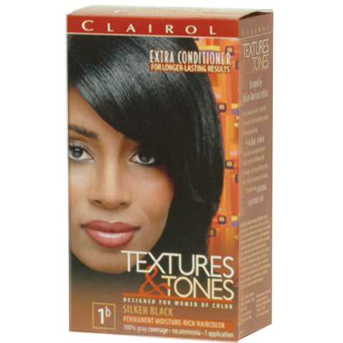 Clairol Text/Tone 1B-SILKEN BLACK - Hair Color - Express Beauty USA