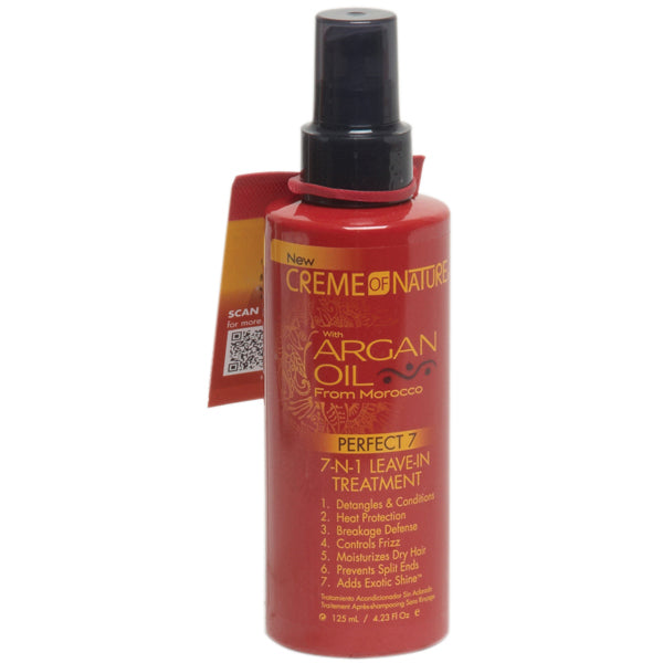 Creme Of Nature Argan Oil PERFECT 7-N-1 Leave-in Treatment 4.23 Oz