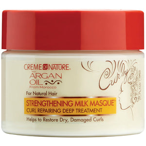 Creme Of Nature Argan Oil STRENGTHENING MILK MASQUE for Natural Hair 11.5 Oz