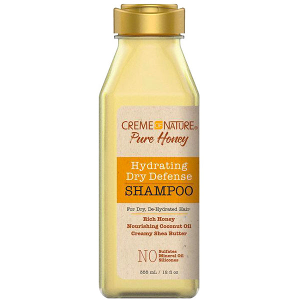 Creme Of Nature Pure Honey Hydrating Dry Defense SHAMPOO 12 Oz