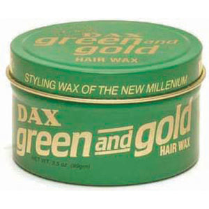 DAX GREEN AND GOLD HAIR Styling Wax Of New Millenum 3.5 Oz