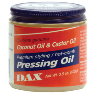DAX HAIR Coconut & Castor Oil Styling /Hot-Comb PRESSING OIL