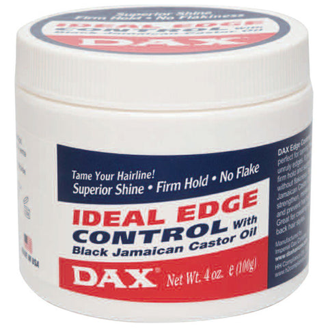 DAX IDEAL EDGE CONTROL Black Jamaican Castor Oil GEL 4 Oz