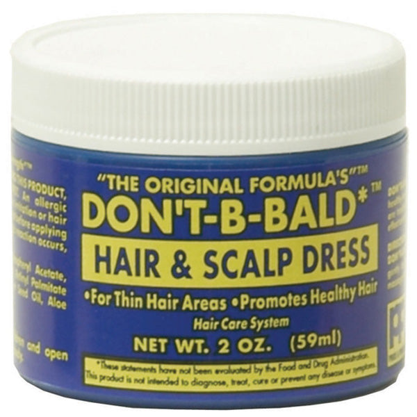 Don't Be Bald HAIR AND SCALP DRESS For Thin Hair Areas Promotes Healthy Hair 2 Oz