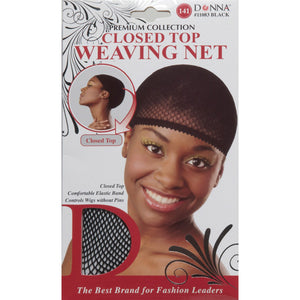 [PACK OF 6] Donna Closed Top Weaving Cap #11083 Black