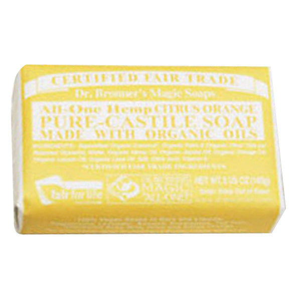 Dr. Bronner Pure-Castile Bar Soap ALL IN ONE  CITRUS 5 Oz ea