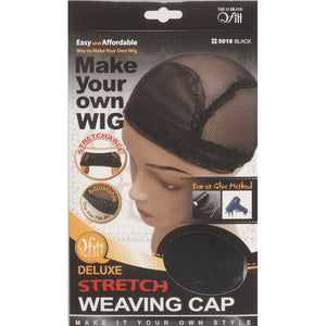 [PACK OF 6] Qfitt  Deluxe Stretch Weaving Cap #5018