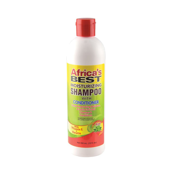 Africa's Best Moisturizing SHAMPOO With CONDITIONER Improved Formula 12 Oz