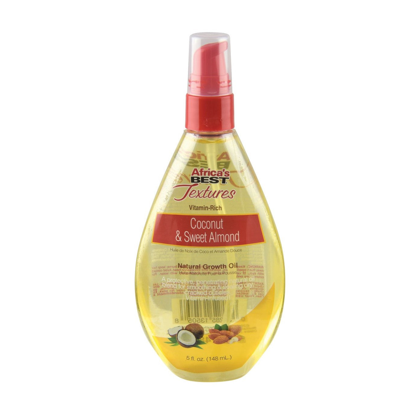 Africa's Best Textures Coconut & Sweat Almond  Natural Growth Oil 5 Oz