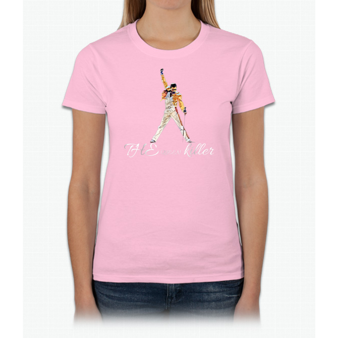 37be191ae The Queen Killer Vintage Band T-Shirt Featuring Freddie Ladies Custom -  ULASHIRT