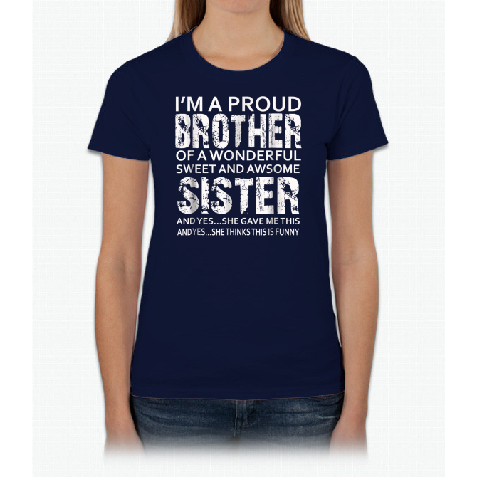 Funny Gift For Brother From Sister Birthday Present Ladies Custom