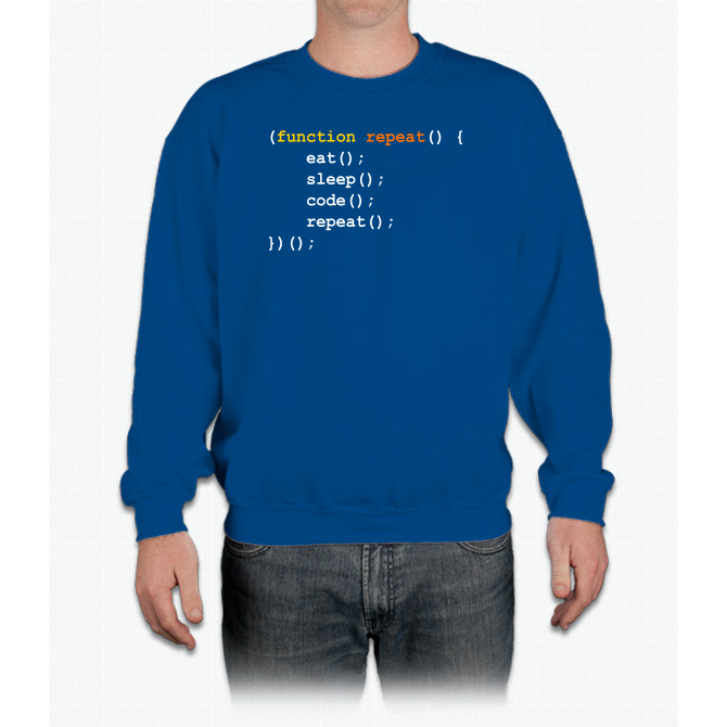 Funny Computer Science Programmer Eat Sleep Code T Shirt Crewneck