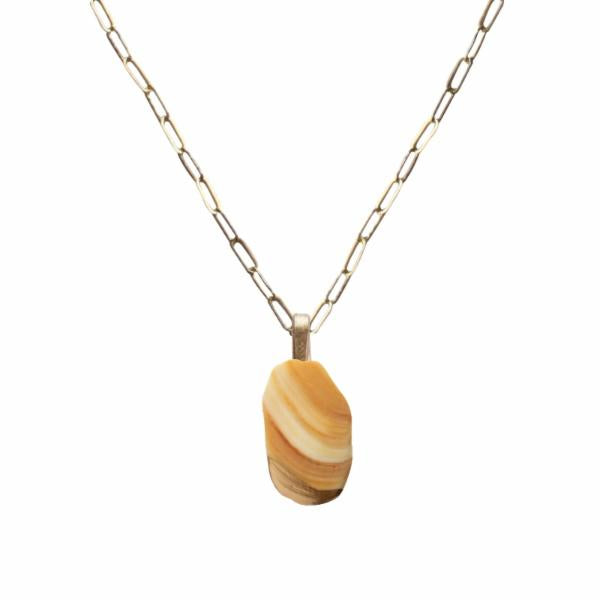Amber Tuatua Shell Necklace