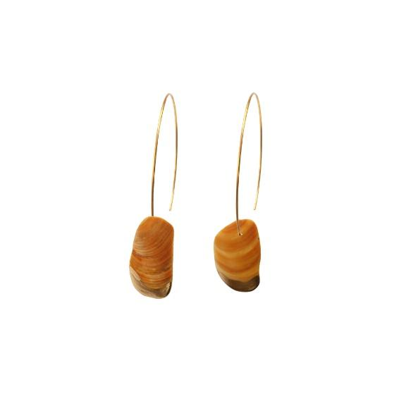 Tuatua Shell Half Hoop Earrings
