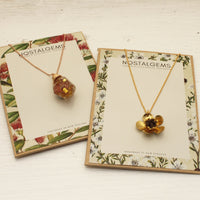 Daisy Flower Dome  Necklace