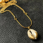 Cowrie Shell U-Bar Necklace