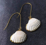 Cockle Shell Dangle Earrings