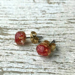 Pohutukawa Gem Stud Earrings