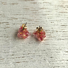 Geode Stud Earrings - Pink Manuka Flower