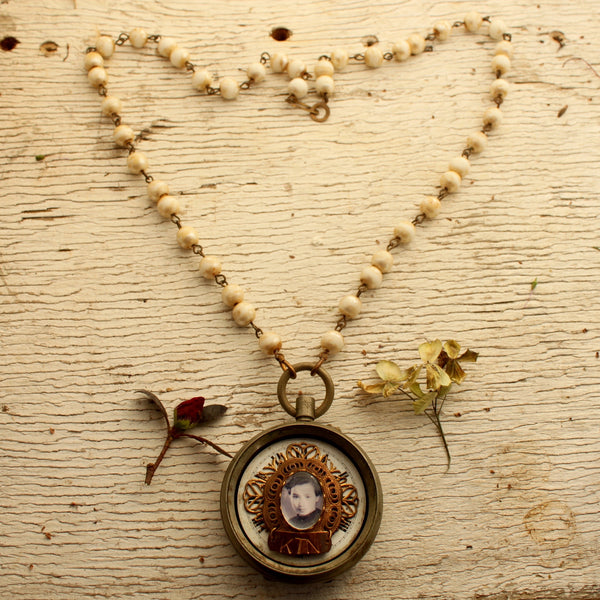 Vintage Pocket Watch Memory Keeper Necklace