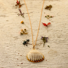 Gold Rimmed Shell Necklace