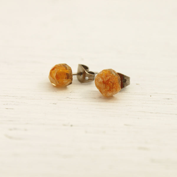 Kowhai Gem Stud Earrings
