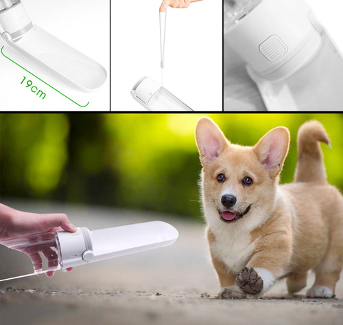 Nado Care Dog Water Bottle for Walking Portable Dog Water Dispenser Pet Drink Cup with Rotatable Clamshell Sink Lightweight & Convenient for Travel