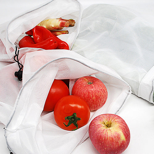 Reusable Mesh Bags - Set Of 10 - See-through And Washable, Heavy-duty, Reusable Mesh Bags Storage Totes For Grocery Shopping Fruits, Vegetables, Food And Toy