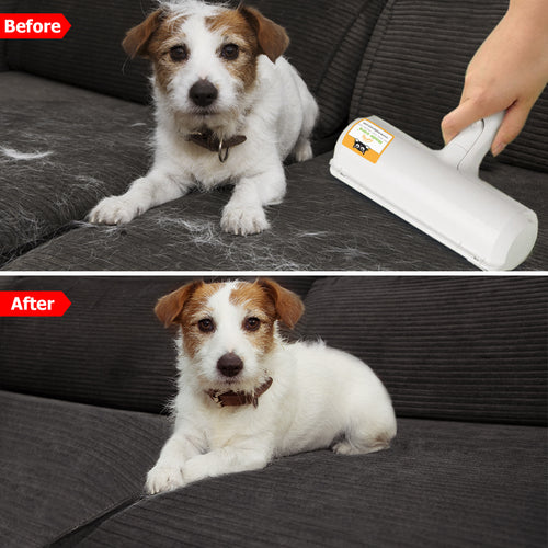 Nado Care Pet Hair Remover Roller -  Lint Roller and Pet Hair Roller in 1. Remove Dog, Cat Hair from Furniture, Carpets, Bedding, Clothing and more.