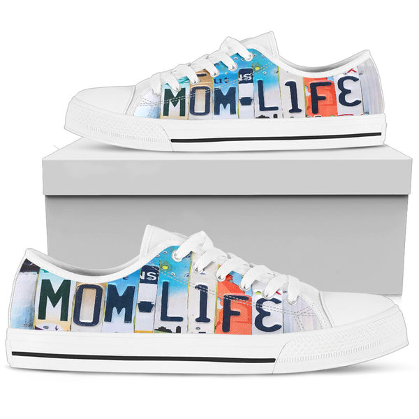 Mom Life | Women's Low Top Shoes - Monarch Graphics & Design