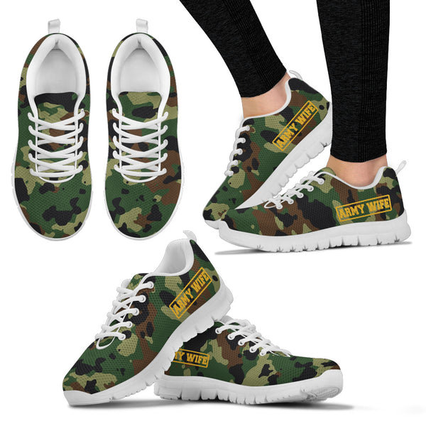 Army Wife - Women's Sneakers - Monarch Graphics & Design