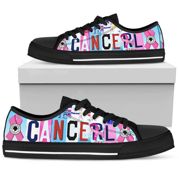 Cancel Cancer | Women's Low Top Shoes - Monarch Graphics & Design