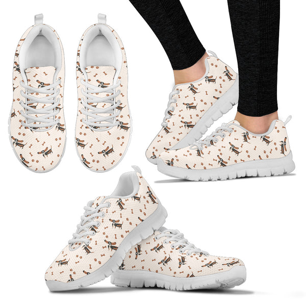 Basset Hound Women's Sneakers - Monarch Graphics & Design