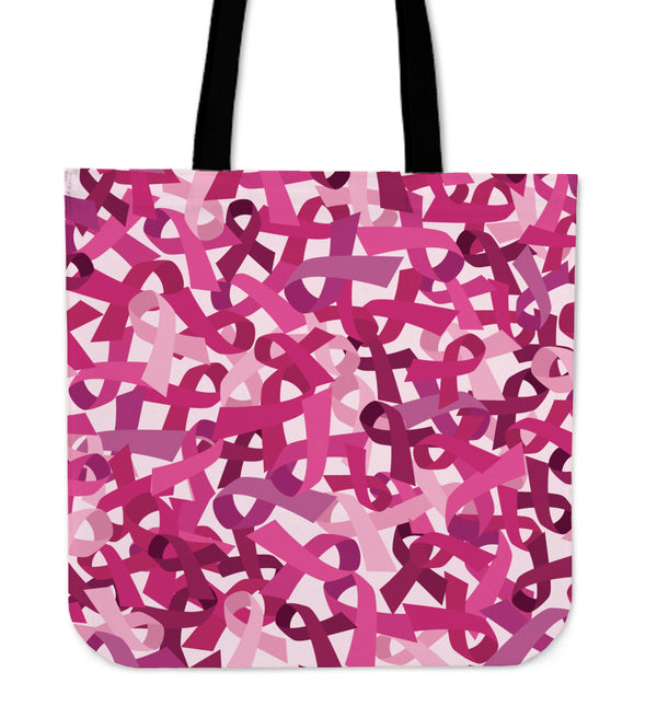 Breast Cancer Awareness Cloth Tote Bag - Monarch Graphics & Design
