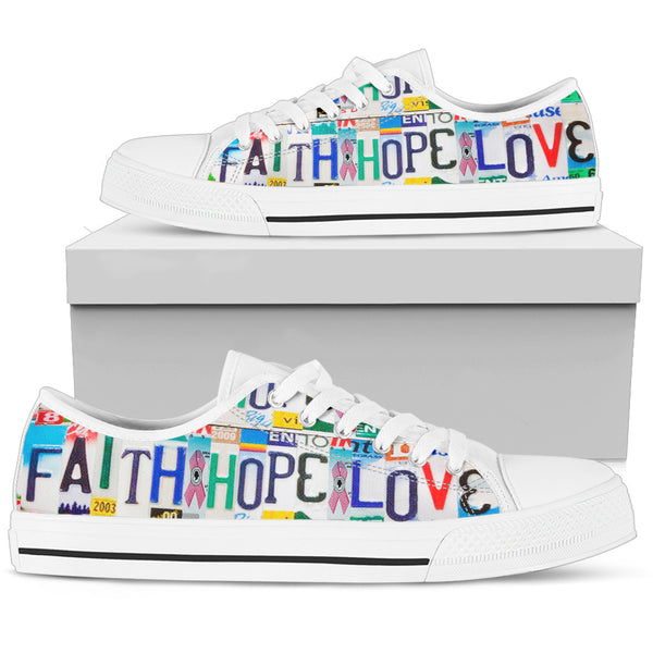 Faith, Hope, Love | Women's Low Top Shoes - Monarch Graphics & Design